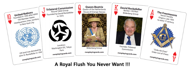 Royal Flush with NWO Playing Cards